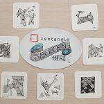 Colaboración especial de ZENTANGLE en el Mercadillo Solidario