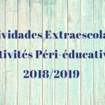 Actividades Extraescolares 2018/2019