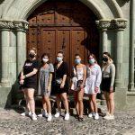 Las estudiantes de Servicio Cívico recorren el casco histórico de Las Palmas de Gran Canaria con Turismo de la ciudad