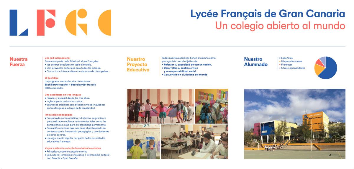 Tríptico del Liceo Francés de Gran Canaria