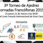 3º Torneo de Ajedrez Jornadas Francófonas 2019