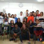 Charla de nuestro antiguo alumno, Géraud H., a los alumnos de 2º BachiBac