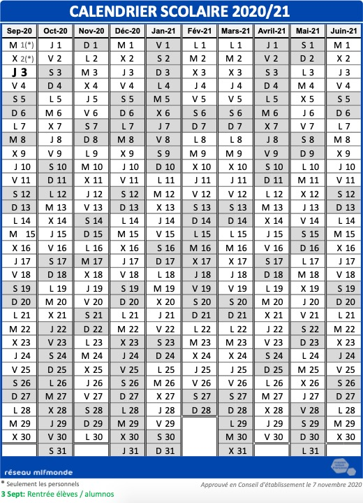 lycee-gran-canaria-calendrier-20-21