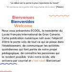 ECOOL, la newsletter du Lycée français international de Gran Canaria